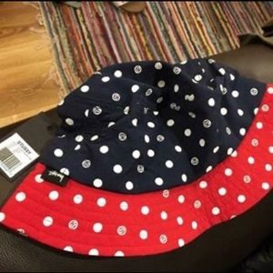 Dead stock Stussy bucket hat, Navy and Red